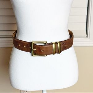 The Honest Company Genuine Leather Belt/Brass BkL.